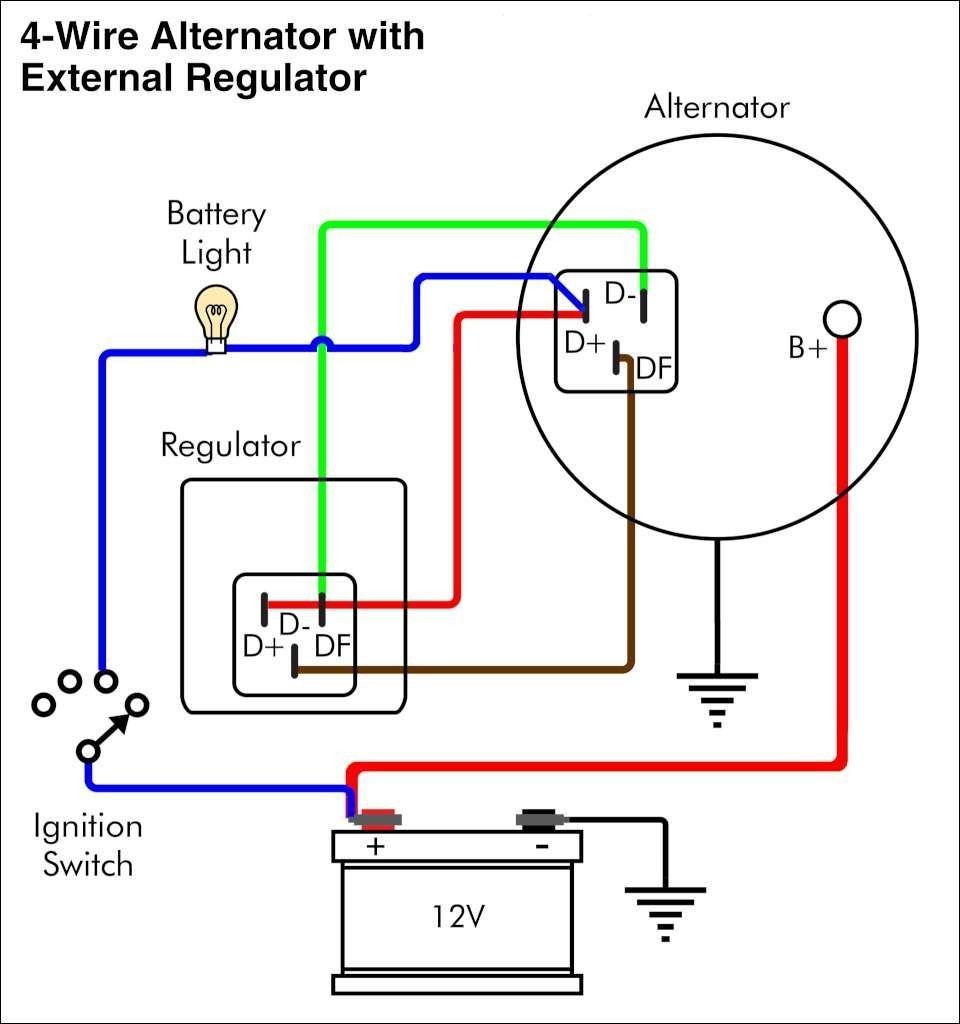 12 Volt Delco Alternator Wiring Diagram | Wiringdiagram