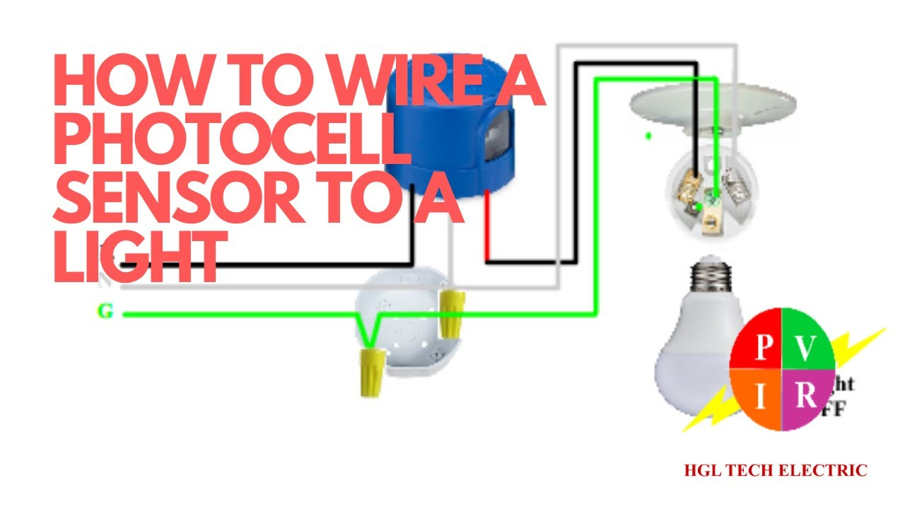 How To Wire A Photocell To Light. How To Wire Photocell Sensor. How To  Connect A Photocell.